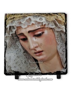 Bonita pizarra cuadrada de la Virgen del Buen Fin (La Lanzada,Sevilla)