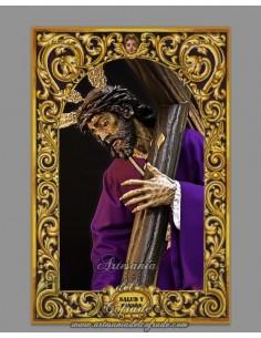 Azulejo rectangular del Cristo de la Salud y Pasión de Almería