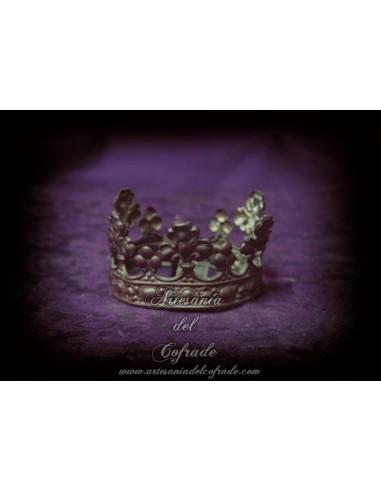 Corona antigua de metal para virgen de 60-70 ctm