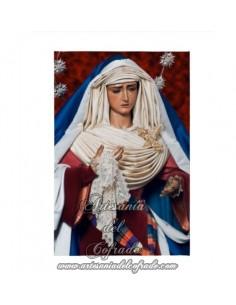 Lienzo con bastidor 20x30 de la Virgen de la Hiniesta de Sevilla