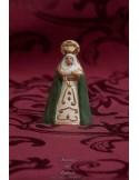 Figura de Virgen Dolorosa de 10 ctm con manto verde