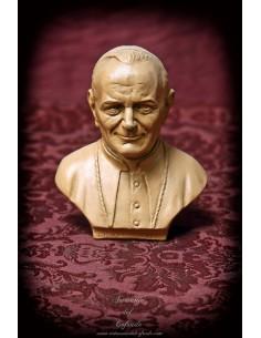 Busto del Papa Juan Pablo II de 12 ctm