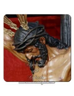 Imán cuadrado de plastico del Cristo de la Lanzada de Sevilla