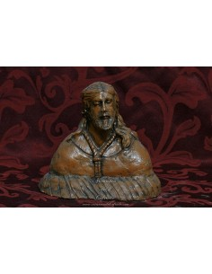 Busto de Cristo realizado en terracota de 15 ctms patinado