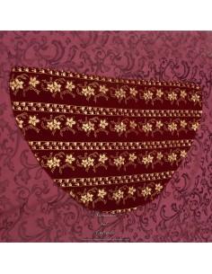 Manto terciopelo rojo con adornos dorados para Virgen de 40 ctm