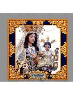 Azulejo cuadrado de la Virgen del Carmen de San Fernando