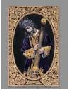 Azulejo rectangular de Jesús del Gran Poder de Sevilla con greca