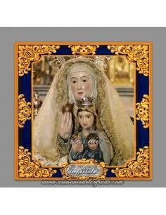 Azulejo cuadrado de Santa Ana (Patrona de Dos Hermanas)