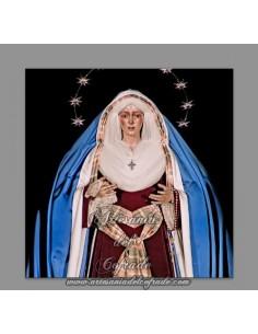Azulejo cuadrado de la Virgen de la Macarena de Sevilla