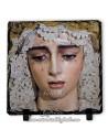 Baldosa de pizarra cuadrada de la Virgen de la Salud (San Gonzalo,Sevilla)