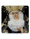 Imán cuadrado de plastico de la Virgen de la Encarnación de San Benito (Sevilla)