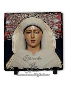 Bonita pizarra cuadrada de la Virgen del Rosario Doloroso de Sevilla