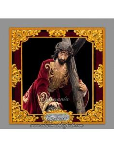 Azulejo cuadrado de Jesús caido de Cádiz