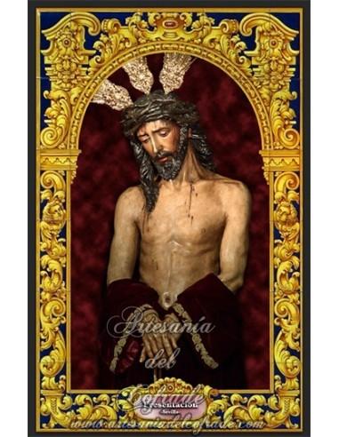 Azulejo rectangular del cristo de la Presentación (Cofradía de San Benito de Sevilla)