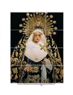 Retablo de 12 azulejos de la Virgen de la Soledad de San Lorenzo (Sevilla)