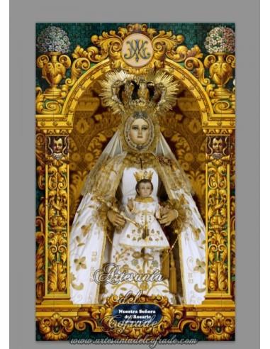 En venta bonito azulejo de la virgen del rosario patrona for Azulejos cadiz