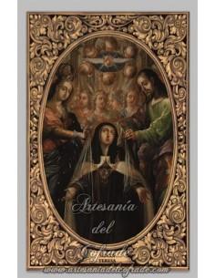 Azulejo rectangular de Santa Teresa de Jesús