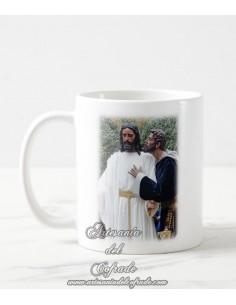 Taza con fotografia del Cristo del Beso de Judas de Sevilla