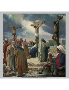 Azulejo cuadrado de la crucifixión de Jesús