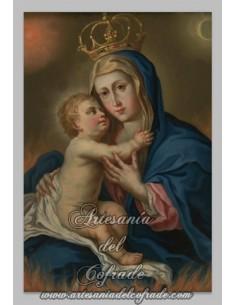 Azulejo rectangular de la Virgen Maria con el Niño Jesus