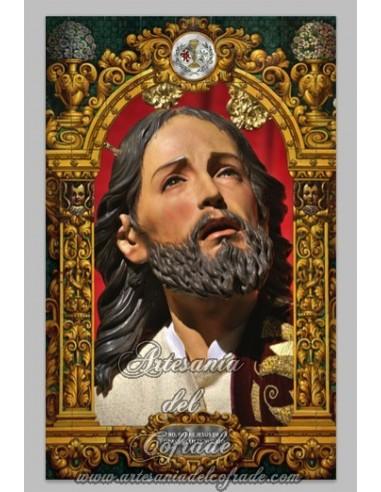 Azulejo rectangular de Nuestro Padre Jesús de la Oracion en el Huerto de Córdoba.