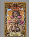 Azulejo rectangular con la Virgen del Rocio con greca