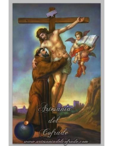 Se vende cerámica del abrazo de San Francisco al Crucificado - Tienda Religiosa