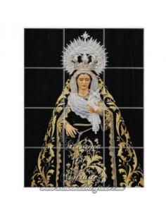 Retablo de 12 azulejos de la Virgen de las Tristezas (Sevilla)
