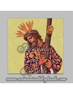Precioso y original Azulejo de Nuestro Padre Jesús del Gran Poder