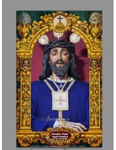 Azulejo rectangular de Nuestro Padre Jesús Cautivo de Sanlucar de Barrameda (Cádiz)