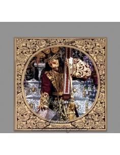Azulejo cuadrado con el Cristo de la Misericordia de Málaga