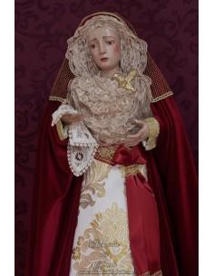 Virgen Dolorosa de 75 ctm de altura y vestida