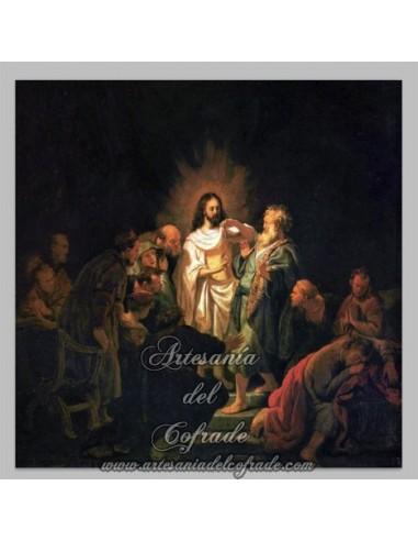 Azulejo cuadrado de la Resurreción de Cristo.