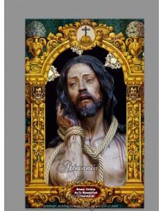 Azulejo rectangular del Cristo de Humildad y Paciencia de Cádiz