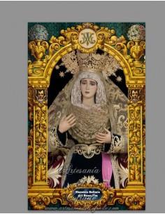 Azulejo rectangular de la Virgen del Buen Fin de Cádiz (Cofradia de Sentencia)