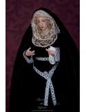 Virgen Dolorosa de 45 ctm de candelero magnificamente vestida