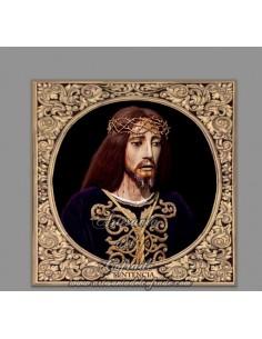 Azulejo cuadrado del Cristo de la Sentencia de Cádiz