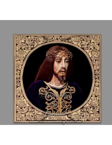 Se vende baldosa de cerámica cuadrada del Cristo de la Sentencia de Cádiz