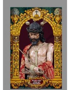 Azulejo rectangular de Nuestro Padre Jesús del Ecce-Homo (Cádiz)