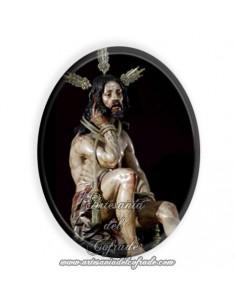 Azulejo ovalado 6x8 ctm del Cristo de la Humildad y Paciencia de Cádiz