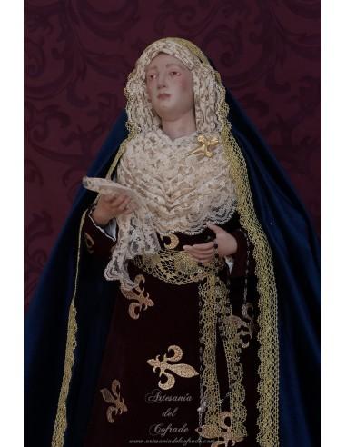 Virgen Dolorosa de 57 ctm de altura y vestida