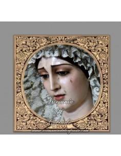 Azulejo cuadrado de la Virgen de las Penas de Cádiz