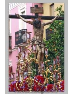 Precioso azulejo del Cristo de San Bernardo de Sevilla
