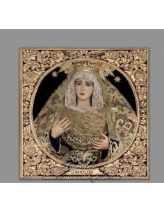 Azulejo cuadrado de la Virgen del Buen Fin (Cofradia de Sentencia de Cádiz)