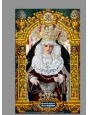 Azulejo rectangular de Nuestra Señora de las Lágrimas de Sevilla (Cofradía de la Exaltación)