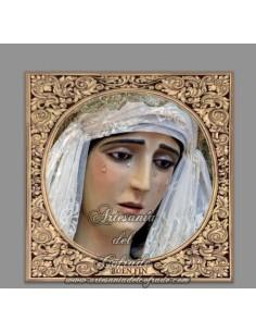 Azulejo cuadrado con la Virgen del Buen Fin (Cofradia de Sentencia de Cádiz)