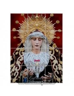 Retablo de 12 azulejos de la Virgen de los Dolores de Sevilla (Cofradia del Cerro del Aguila)