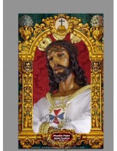 Azulejo rectangular de Nuestro Padre Jesús Cautivo de Málaga