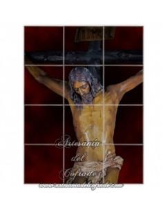 Retablo de 12 azulejos del Santísimo Cristo de la Buena Muerte y Ánimas de Málaga (Cristo de Mena)