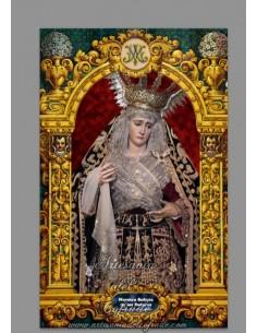 Azulejo rectangular de la Virgen de los Dolores de Jerez de la Frontera